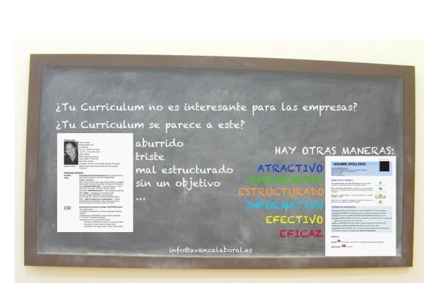 ¿Quieres un Curriculum efectivo que te ayude en tu búsqueda activa de empleo? www.avanzalaboral.es