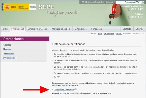 Obtener Certificados Desde La Web Del Sepe Avanza Laboral